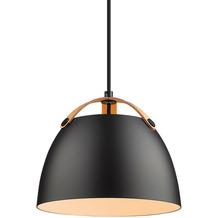 Halo Design Hängeleuchte Oslo Ø24, schwarz/eiche