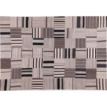 Handwebteppich FLASH HOUSE 1604 black/beige gemustert 140 cm x 200 cm