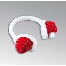 TIB Heyne Haarreifen mit Weihnachtsmützen als Ohrenschützer, rot/weiß, einzeln