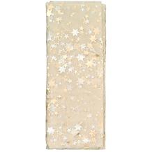 TIB Heyne Organza-Deko-Stoff, 200 x 150 cm, champagner mit Sternen, 1 Stück