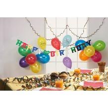 """TIB Heyne Party-Deko-Set """"Geburtstag"""", 18-teilig beStück aus: 12 Met.-Ballons, 5 x HB-Ballons"""
