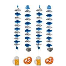 "TIB Heyne Rotorspiralen, silber/blau, Ø7, 5 cm, Länge 60 cm, mit Cut-Out ""Brezel""/Bierkrug"""