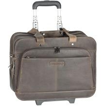 Harold's Antico Business-Trolley Leder 43 cm Laptopfach taupe