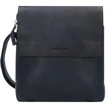Harold's Crossbag Umhängetasche Leder 22 cm schwarz