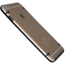 Hart Cover/Case/Schutzhülle - Apple iPhone 6 Plus - Transparent Schwarz
