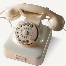 HDK Telefon W48, elfenbein  Nostalgietelefon