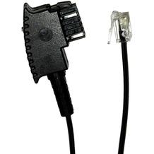 HDK Telefonanschlusskabel Österreich TST -> RJ11, schwarz