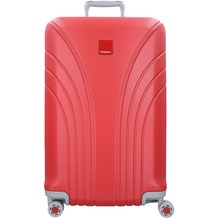 Hedgren Take Off Flight L 4-Rollen Trolley 76 cm red silver combo
