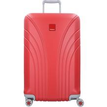 Hedgren Take Off Flight M 4-Rollen Trolley 67 cm red silver combo