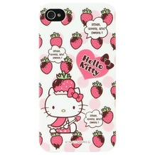 Hello Kitty Character Case Strawberry für iPhone 4/4S