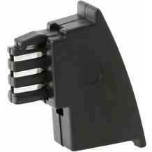 Helos Adapter TAE F Stecker/6P4C Buchse, Bel. A,