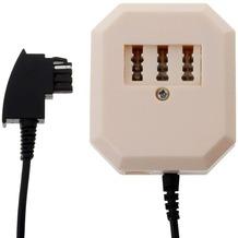 Helos Adapter TAE F Stecker/TAE NFF & 6P4C Buchse