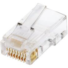 Helos Modularstecker 8P8C, VPE 100, für Rundkabel