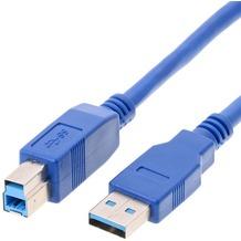 Helos USB 3.0 Kabel Stecker A auf Stecker B, 1,8 m