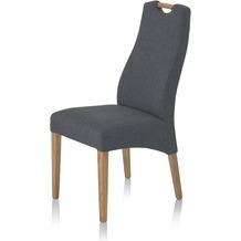Henke Möbel Polsterstuhl grau-anthrazitfarben