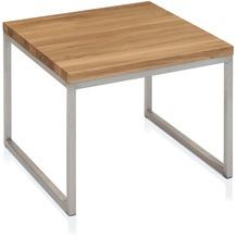 Henke Möbel Beistelltisch Ast-Eiche 50 x 50 cm