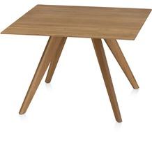 Henke Möbel Beistelltisch Eiche mit Spitzfüße 65 x 65 cm