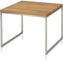Henke Möbel Beistelltisch Kern-Altholz 70 x 70 cm