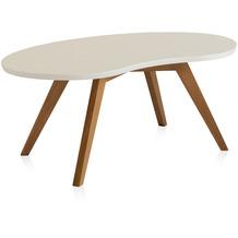 Henke Möbel Couchtisch Spitzfüße creme 110 x 62 cm