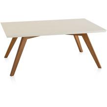 Henke Möbel Couchtisch Spitzfüße quadratisch creme 110 x 70 cm