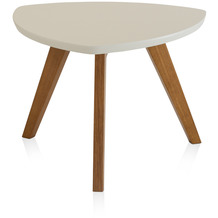 Henke Möbel Couchtisch Spitzfüße creme 60 x 60 cm