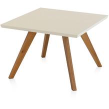 Henke Möbel Couchtisch Spitzfüße creme 65 x 65 cm
