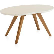 Henke Möbel Couchtisch Spitzfüße creme 90 x 56 cm