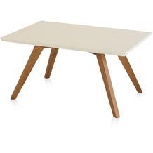 Henke Möbel Couchtisch Spitzfüße quadratisch creme 90 x 60 cm
