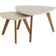 Henke Möbel Couchtisch Spitzfüße creme 90 x 80 cm