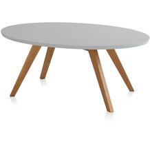 Henke Möbel Couchtisch Spitzfüße grau 110 x 70 cm