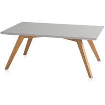 Henke Möbel Couchtisch Spitzfüße quadratisch grau 110 x 70 cm