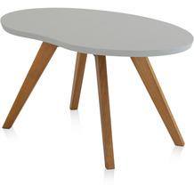 Henke Möbel Couchtisch Spitzfüße grau 90 x 56 cm