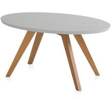 Henke Möbel Couchtisch Spitzfüße grau 90 x 60 cm