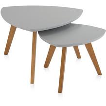 Henke Möbel Couchtisch Spitzfüße grau 90 x 80 cm