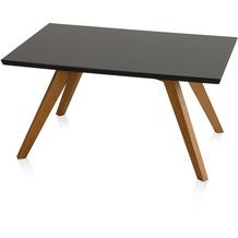 Henke Möbel Couchtisch Spitzfüße quadratisch schwarz 90 x 60 cm