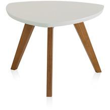 Henke Möbel Couchtisch Spitzfüße weiß 60 x 60 cm
