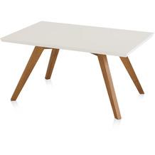 Henke Möbel Couchtisch Spitzfüße quadratisch weiß 90 x 60 cm
