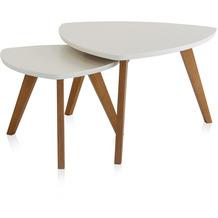 Henke Möbel Couchtisch Spitzfüße weiß 90 x 80 cm