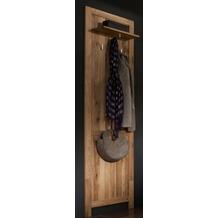 Henke Möbel Garderobenpaneel 55 x 200 x 18 cm, massive Wildeiche