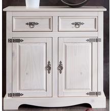 Henke Möbel Kommode 2-türig 83,5 x 82 x 35 cm weiß
