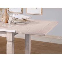 Henke Möbel Paar Ansteckplatten zu Tisch 152 cm und 190 cm weiß