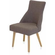 Henke Möbel Stuhl mit Stoff braun