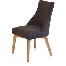 Henke Möbel Stuhl mit Stoff nuss-braun