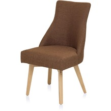 Henke Möbel Stuhl mit Stoff rotbraun