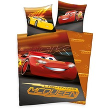 Herding Disney's Cars 3 Renforcé Bettwäsche 135x200 cm orange