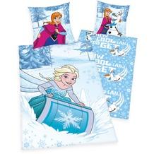 Herding Disney's Die Eiskönigin Renforcé Bettwäsche 135x200 cm blau/weiß