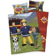 Herding Feuerwehrmann Sam Bettwäsche mit RV / Zipper 40x60+100x135 cm