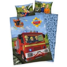 Herding Feuerwehrmann Sam Renforcé Bettwäsche, 100x135 cm bunt