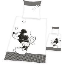 Herding Mickey Mouse Renforcé Bettwäsche 135x200 cm weiß