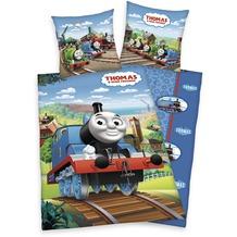 Herding Thomas und seine Freunde Bettwäsche mit RV / Zipper 80x80+135x200 cm